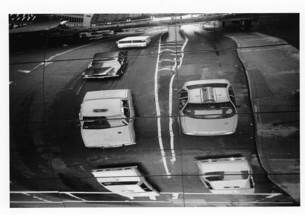 weird refection of cars