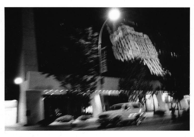 night refloection of urban building