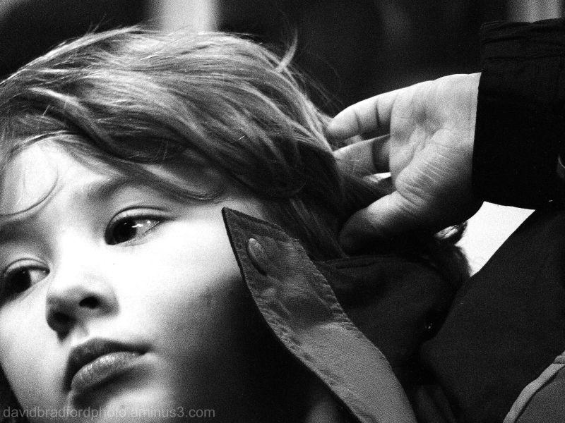 small girl's face