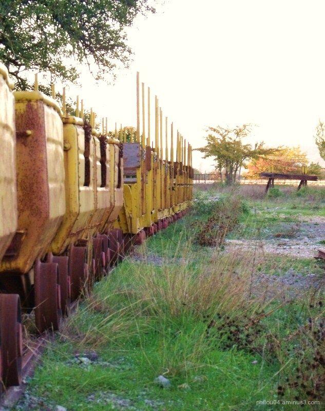Le train de la mine