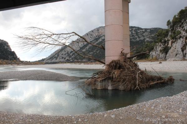 Pont Mirabeau - La crue