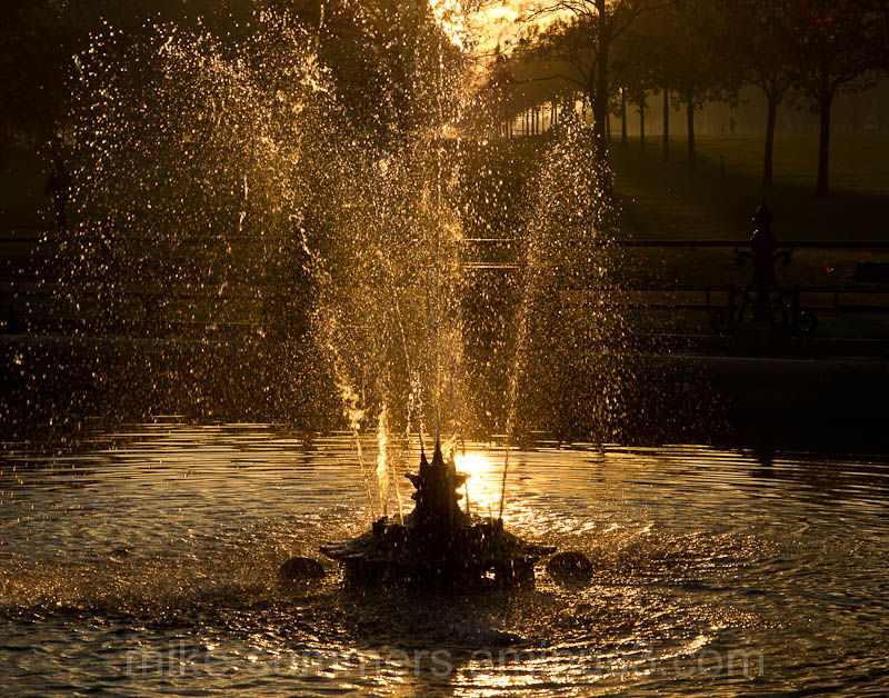 Fountain in the evening light