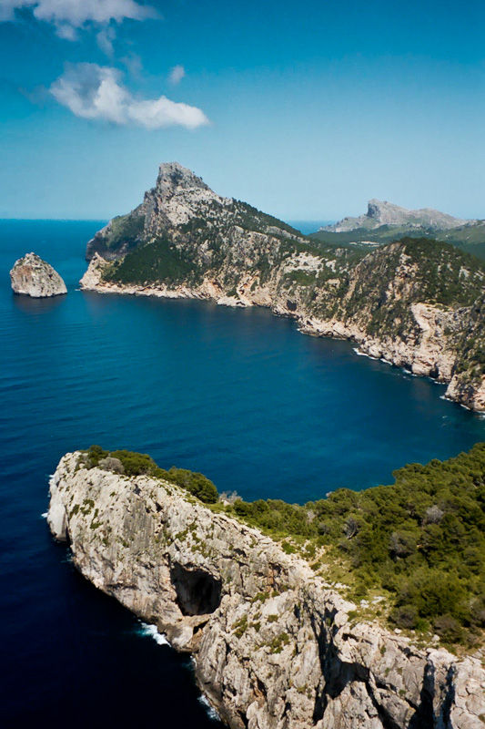 Coast NW Mallorca Spain sea mountains cliffs