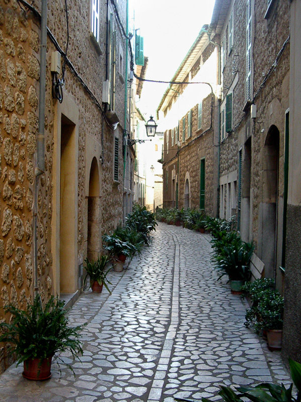 Street Soller Mallorca Spain
