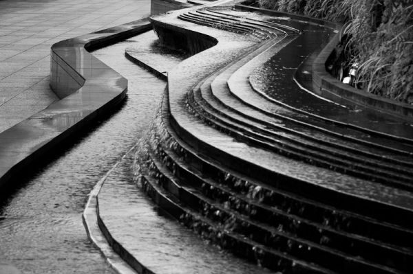 water feature monochrome