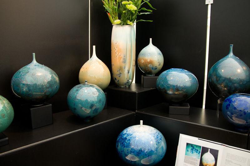 Pottery crystal glazes