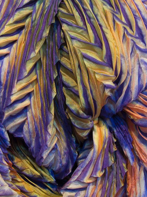Arashi Shibori fabric patterns gold purple