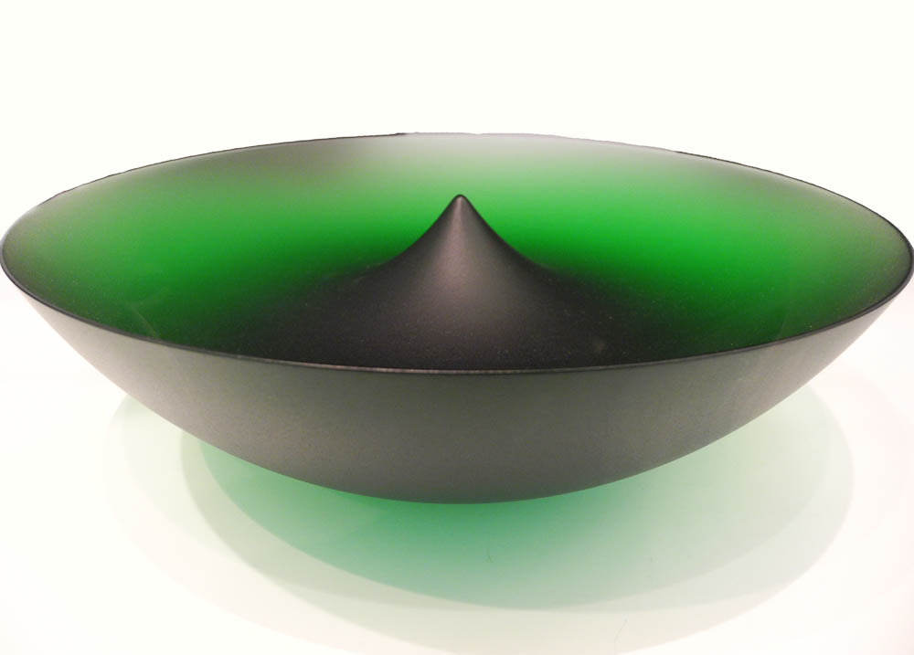 Green Glass vessel at the V&A museum, London