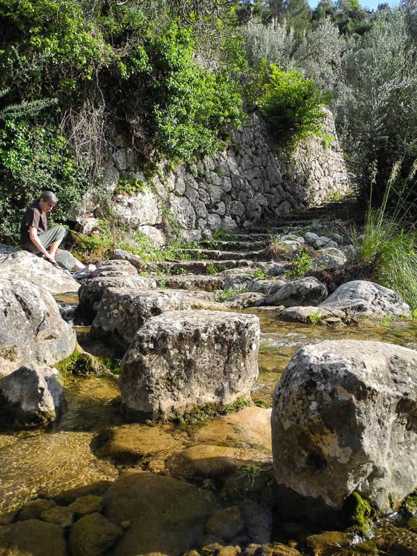 Stepping stone path Fornalutx Mallorca