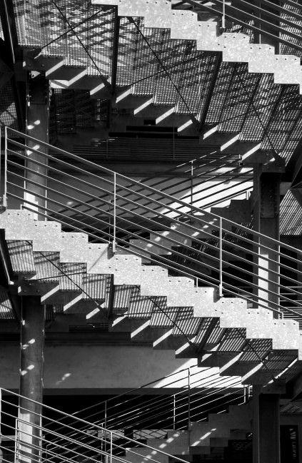 Escalier de l'entrepôt des douanes