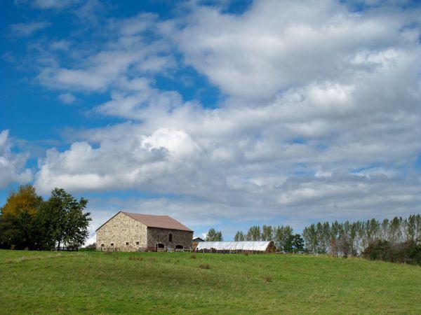 sky farmland clouds barn Ontario Elora Guelph