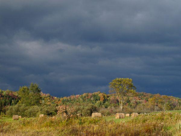 Minden Ontario farmland sky clouds sunset Autumn