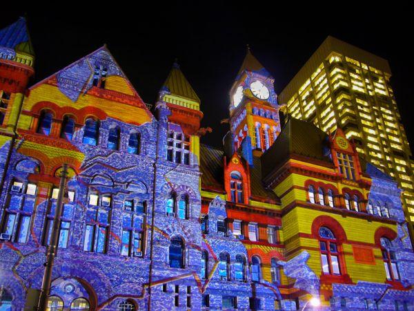"Toronto ""City Hall"" Christmas lights night"