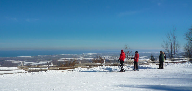 """""""Blue Mountain"""" Ontario snow ski people lookout"""