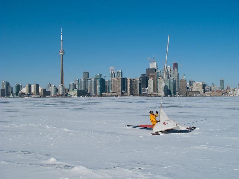 """Toronto skyline """"Lake Ontario"""" Winter Islands"""