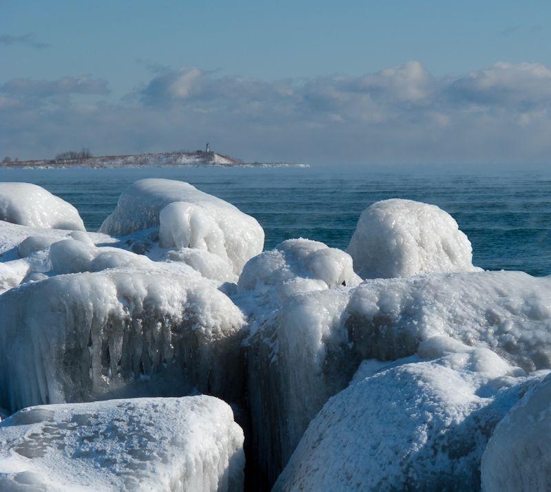 """Toronto """"Toronto Islands"""" Winter ice Lake Ontario"""