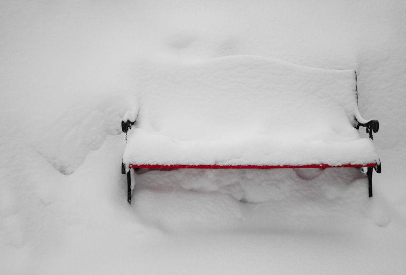 Winter cold bench snow Toronto