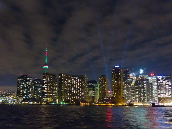 """Toronto, night, buildings, downtown,""""CN Tower"""""""
