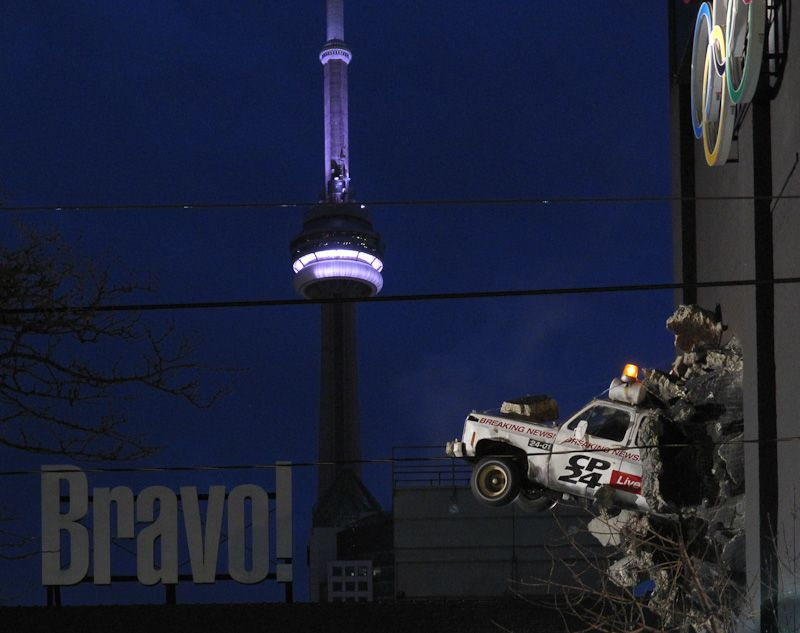 "Toronto Downtown ""City TV"" ""CN Tower"""