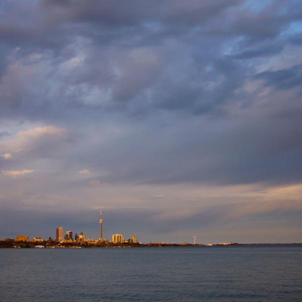 """Toronto skyline """"Lake Ontario"""" sunset sky clouds"""