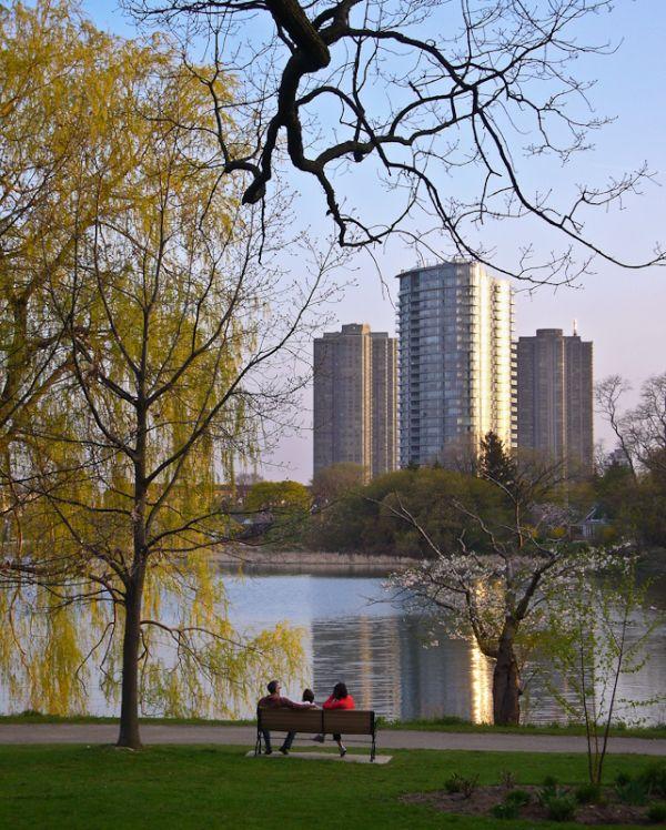 """High Park"" Toronto ""Grenadier Pond"" buildings"