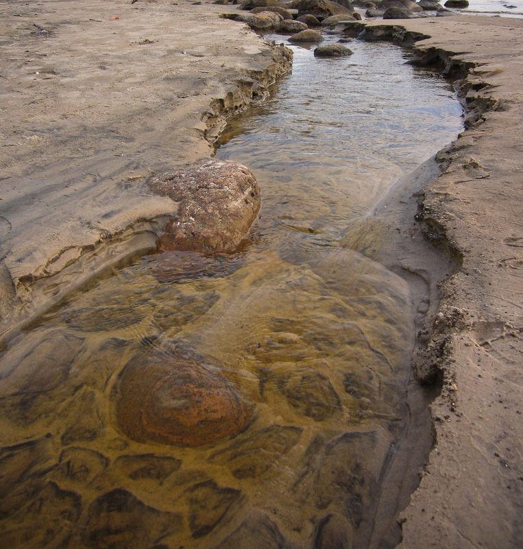 Awenda, Otario, Spring, Stream, rocks