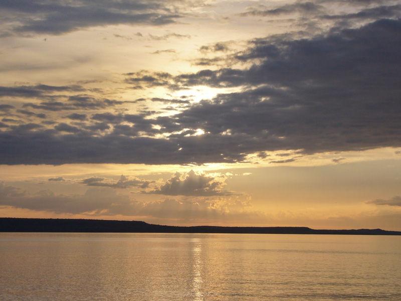 Awenda Ontario Spring lake clouds sunset sky