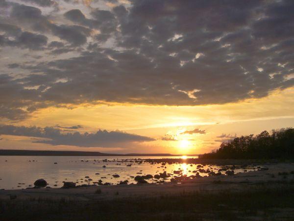 Awenda Ontario Spring lake clouds sunset sky beach