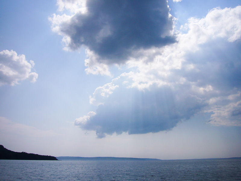 Awenda Ontario Summer sky clouds beach