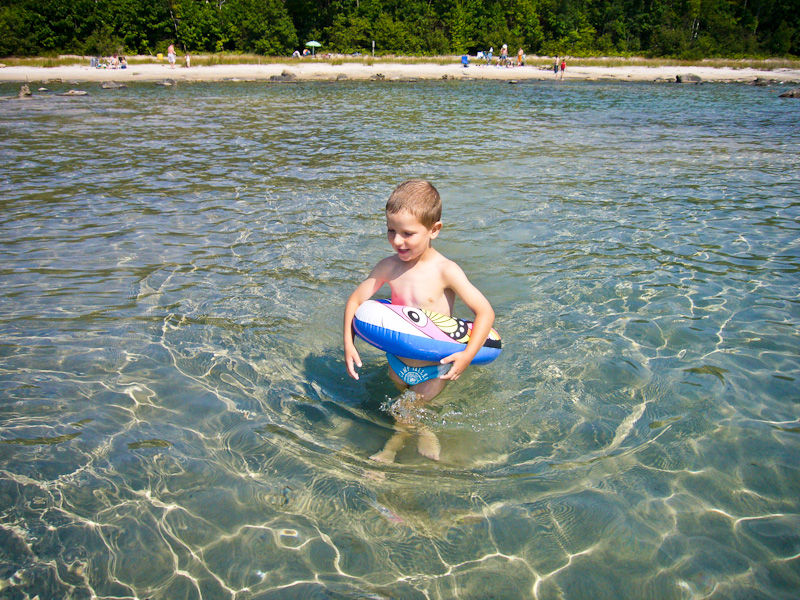Awenda Ontario beach sand water sun children