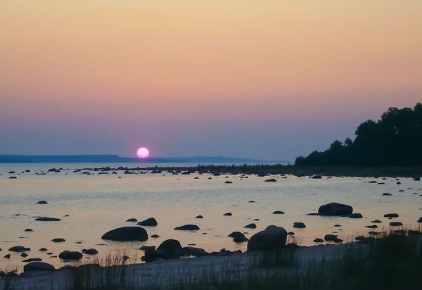 Awenda Ontario Summer sunset beach