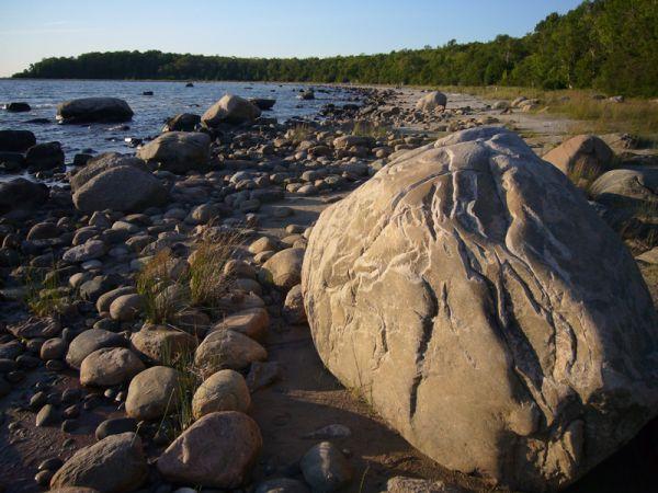 Awenda Ontario Summer beach rock