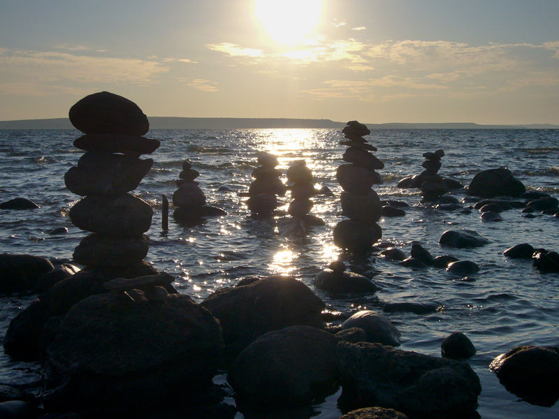 Awenda Ontario Summer sun beach rocks