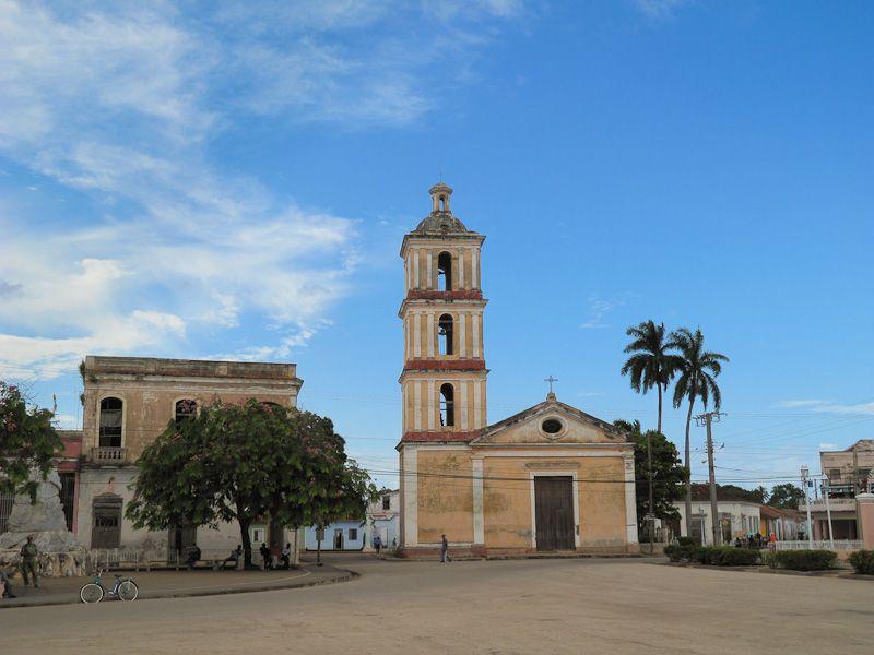 Remedios Cuba square church buildings