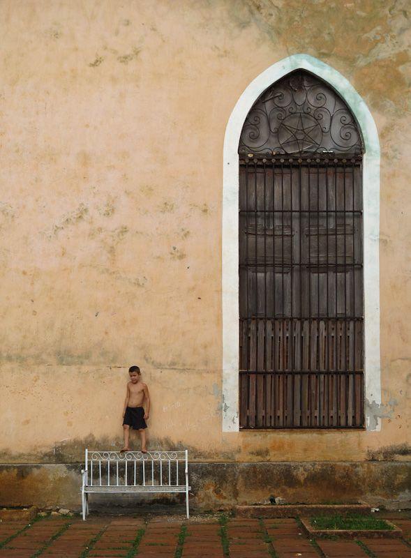 """Remedios Cuba """"Main Square"""" church children"""