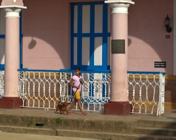 Remedios Cuba people portrait children pets dog