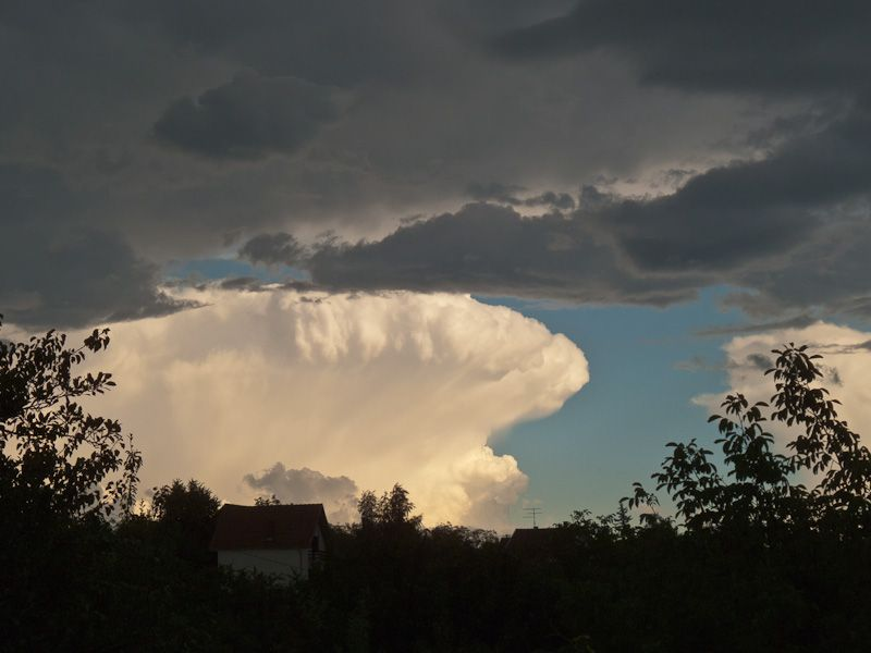 Summer storm clouds sky