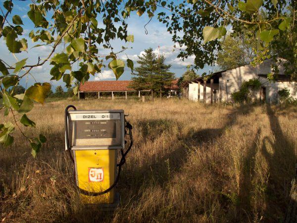 vintage, old, abandoned, farm, gas, station