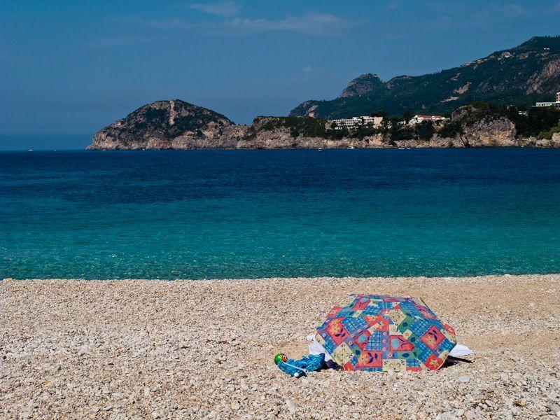 Corfu, Palaiokastritsa, sea, beach, Rovinia