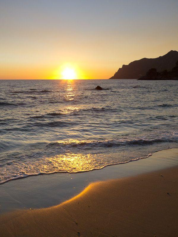 Corfu sea beach Summer sunses Pelekas Kontogialos