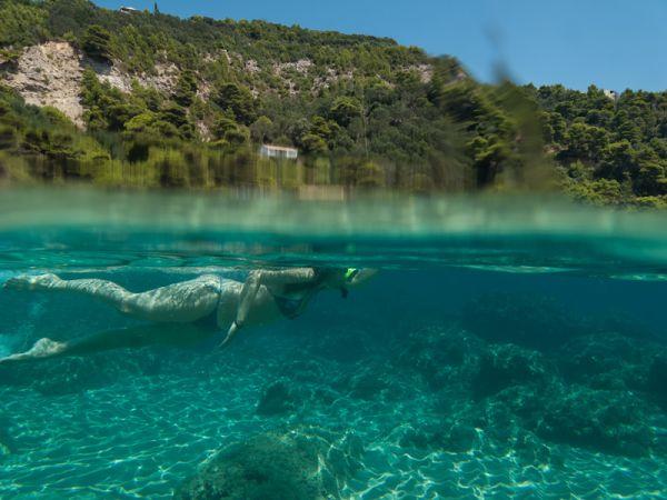 Corfu sea beach Summer Gialiskari snorkeling