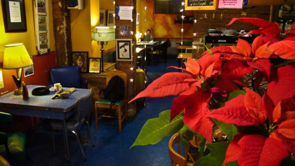Poinsettias cafe Roncesvalles Christmas Toronto