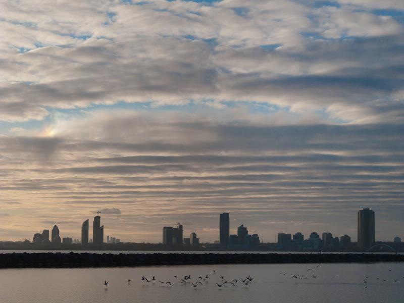 """Toronto """"Lake Ontario"""" sky clouds buildings city"""