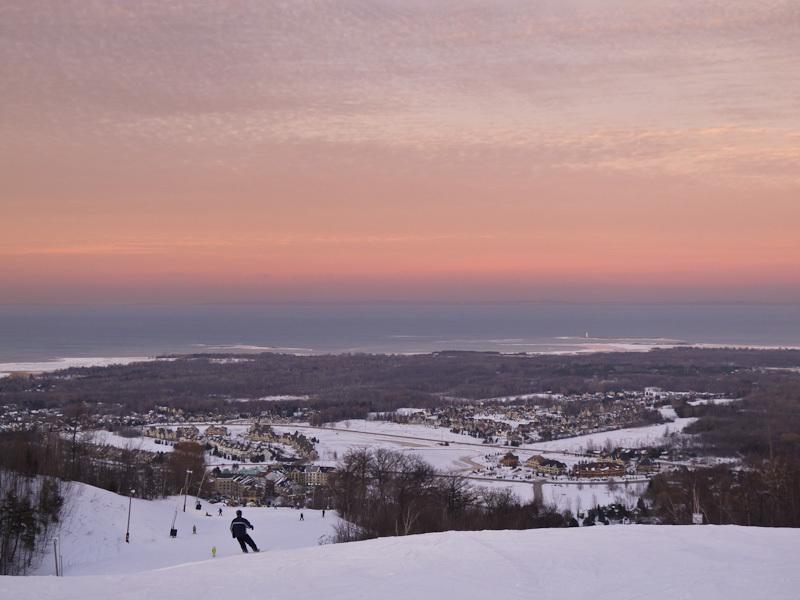 """""""Blue Mountain"""" Ontario Winter ski snow sky cloud"""