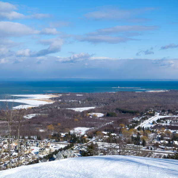 """Blue Mountain"" Ontario Winter Collingwood sky"