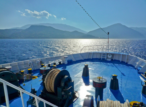 Summer, sea, Greece, Kefalonia, ferry, Ionian,