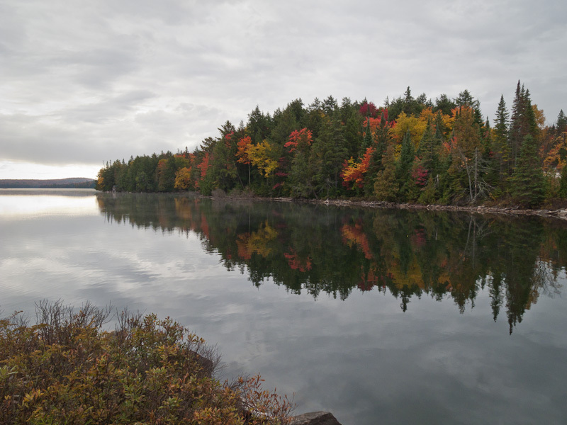 Weather clouds Algonquin lake reflection Fall