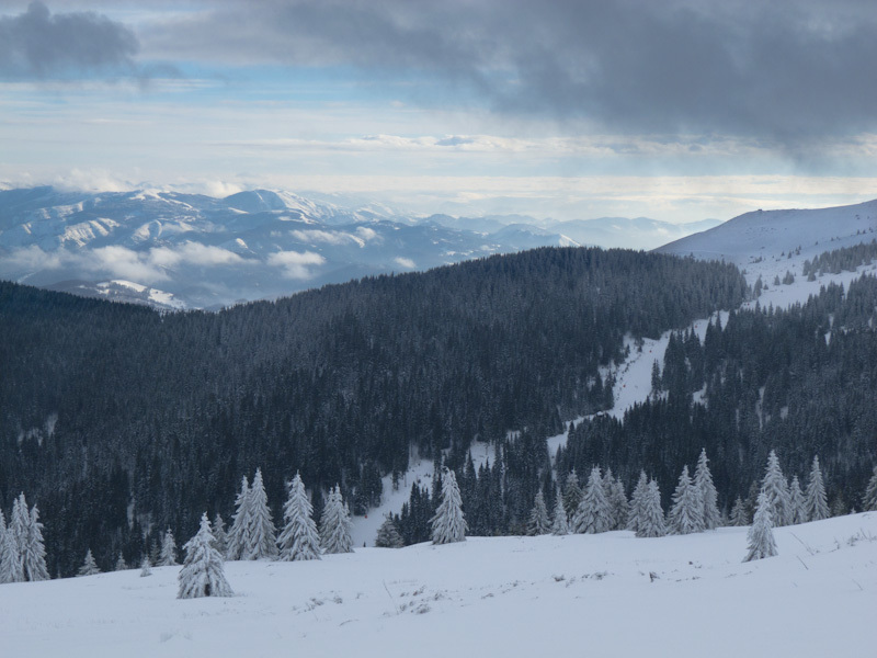 Winter Kopaonik Serbia mountain sky clouds snow sk