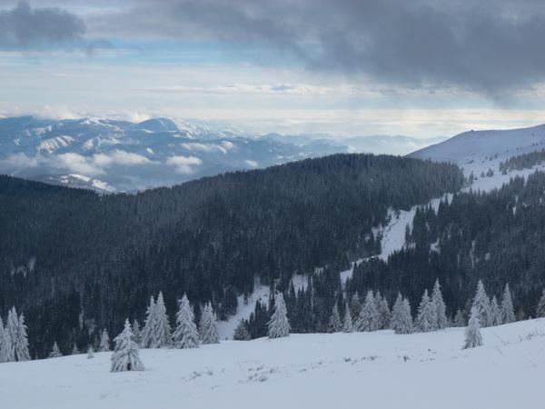 Winter Kopaonik Serbia mountain sky clouds snow sk