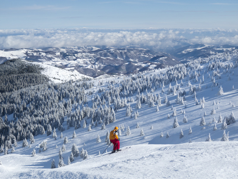 Winter Kopaonik Serbia mountain clouds snow ski